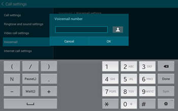 Samsung T805 Galaxy Tab S - Voicemail - Manual configuration - Step 9