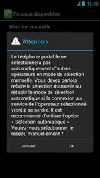 Alcatel One Touch Idol - Réseau - Sélection manuelle du réseau - Étape 8