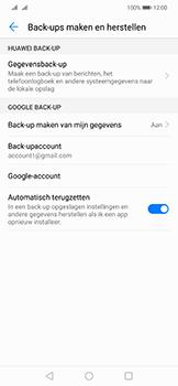 Huawei Mate 20 Lite - toestel resetten - back-up maken met jouw account - stap 10
