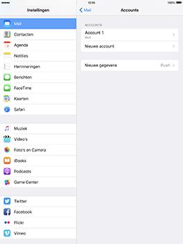 Apple iPad Pro 9.7 - iOS 10 - E-mail - e-mail instellen: IMAP (aanbevolen) - Stap 17