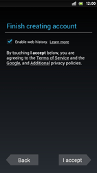 Sony Xperia S - Applications - Setting up the application store - Step 11