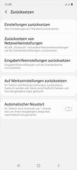Samsung Galaxy A51 - Gerät - Zurücksetzen auf die Werkseinstellungen - Schritt 6