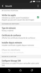 HTC Desire 816 - Sécuriser votre mobile - Personnaliser le code PIN de votre carte SIM - Étape 5