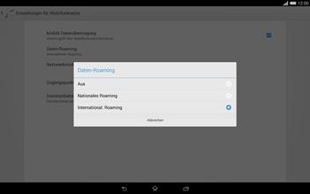 Sony Xperia Tablet Z2 LTE - Internet und Datenroaming - Deaktivieren von Datenroaming - Schritt 7