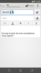 Sony D2303 Xperia M2 - E-mail - envoyer un e-mail - Étape 7