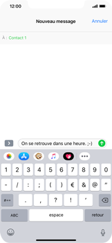 Apple iPhone XR - Contact, Appels, SMS/MMS - Envoyer un SMS - Étape 9