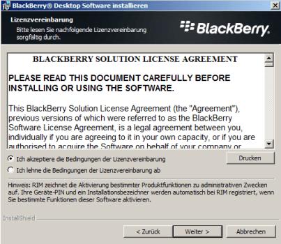 BlackBerry Z10 - Software - Installieren von Software zur PC-Synchronisierung - Schritt 7