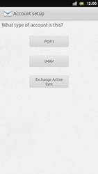Sony Xperia S - E-mail - Manual configuration - Step 7