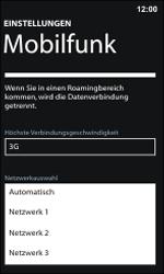 Nokia Lumia 800 / Lumia 900 - Netzwerk - Manuelle Netzwerkwahl - Schritt 9