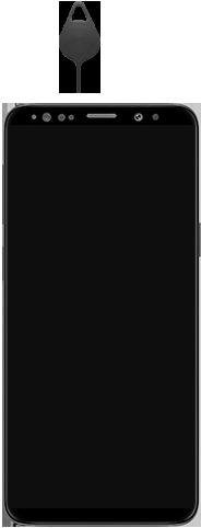 Samsung Galaxy S9 Android Pie - Appareil - comment insérer une carte SIM - Étape 2