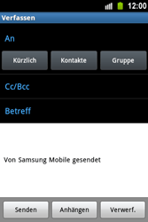 Samsung Galaxy Ace - E-Mail - E-Mail versenden - 5 / 15