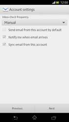 Sony Xperia V - E-mail - Manual configuration - Step 14