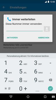 Motorola Google Nexus 6 - Anrufe - Rufumleitungen setzen und löschen - 2 / 2