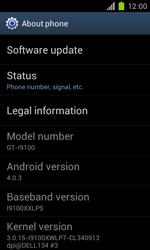 Samsung Galaxy S II - Software - Installing software updates - Step 6