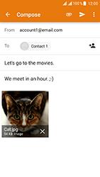 ZTE Blade V8 - E-mail - Sending emails - Step 16