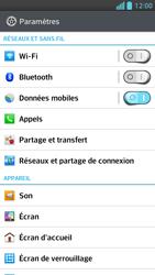 LG Optimus F5 - Internet et connexion - Accéder au réseau Wi-Fi - Étape 4