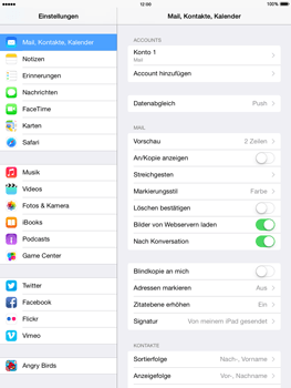 Apple iPad mini 2 - iOS 8 - E-Mail - Manuelle Konfiguration - Schritt 24