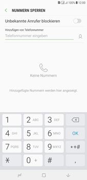 Samsung Galaxy J4+ - Anrufe - Anrufe blockieren - 7 / 12
