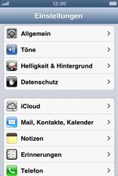 Apple iPhone 3GS - Gerät - Zurücksetzen auf die Werkseinstellungen - Schritt 3