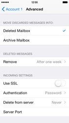 Apple iPhone 5c iOS 8 - E-mail - manual configuration - Step 27