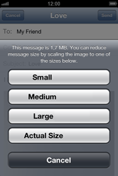Apple iPhone 4 S iOS 6 - Email - Sending an email message - Step 12