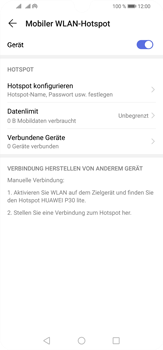 Huawei P30 Lite - WiFi - So aktivieren Sie einen WLAN-Hotspot - Schritt 13