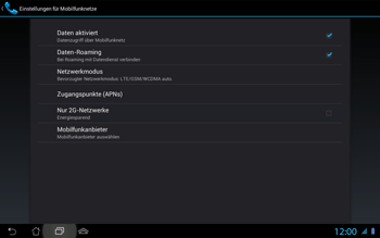 Asus Padfone 2 - Ausland - Im Ausland surfen – Datenroaming - Schritt 9