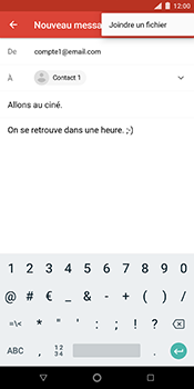 Nokia 7 Plus - E-mails - Envoyer un e-mail - Étape 10
