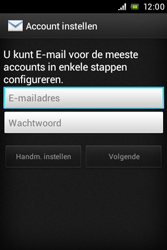 Sony ST21i Xperia Tipo - E-mail - Handmatig instellen - Stap 5