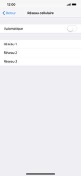Apple iPhone XR - Réseau - Sélection manuelle du réseau - Étape 7
