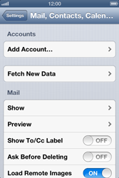 Apple iPhone 4 - E-mail - Manual configuration - Step 4