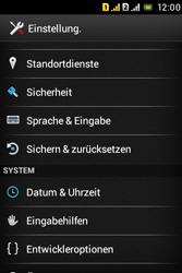Sony Xperia Tipo Dual - Fehlerbehebung - Handy zurücksetzen - 6 / 11