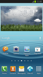 Samsung Galaxy S III LTE - Applications - Setting up the application store - Step 1