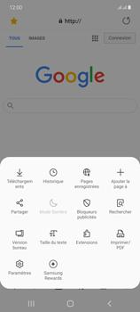 Samsung Galaxy Note20 - Internet et connexion - Naviguer sur internet - Étape 21