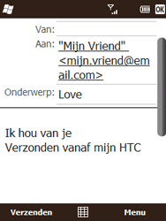 HTC T3333 Touch II - e-mail - hoe te versturen - stap 9