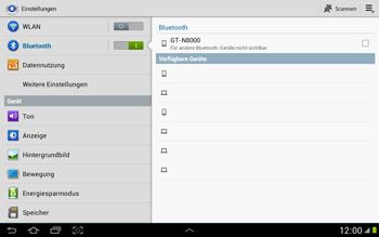 Samsung N8000 Galaxy Note 10-1 - Bluetooth - Geräte koppeln - Schritt 7