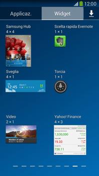 Samsung Galaxy Note III LTE - Operazioni iniziali - Installazione di widget e applicazioni nella schermata iniziale - Fase 7