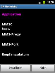 Samsung Galaxy Y - MMS - Automatische Konfiguration - 7 / 12