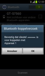 Samsung S7560 Galaxy Trend - Bluetooth - Koppelen met ander apparaat - Stap 7