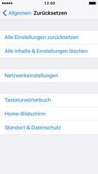 Apple iPhone 5s iOS 10 - Gerät - Zurücksetzen auf die Werkseinstellungen - Schritt 5
