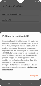 Samsung Galaxy A10 - E-mails - Ajouter ou modifier votre compte Outlook - Étape 12