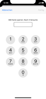 Apple iPhone XS - iOS 14 - Startanleitung - So aktivieren Sie eine SIM-PIN - Schritt 6