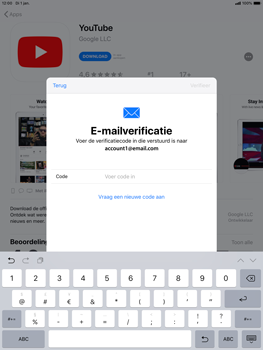 Apple ipad-air-10-5-inch-2019-model-a2123 - Applicaties - Account aanmaken - Stap 21