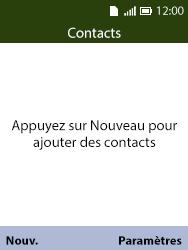 Alcatel 3088X - Contact, Appels, SMS/MMS - Ajouter un contact - Étape 4