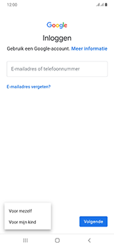 Samsung Galaxy A50 - apps - account instellen - stap 6