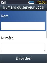 Samsung B3410 Star Qwerty - Messagerie vocale - configuration manuelle - Étape 10