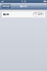 Apple iPhone 3GS - WiFi - WiFi configuration - Step 4