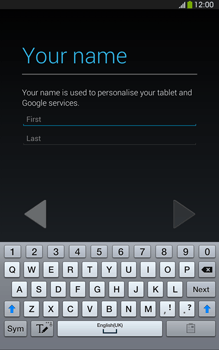 Samsung Galaxy Tab 3 8-0 LTE - Applications - Setting up the application store - Step 5