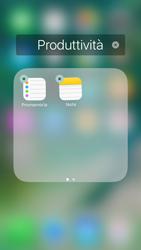 Apple iPhone 6s iOS 10 - Operazioni iniziali - Personalizzazione della schermata iniziale - Fase 7