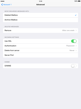 Apple iPad mini iOS 8 - E-mail - manual configuration - Step 25
